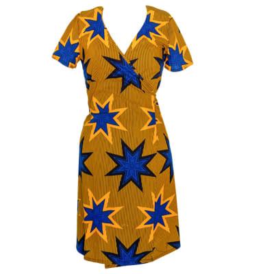 Wraparound Dress Chitenge with Deep V Neck image