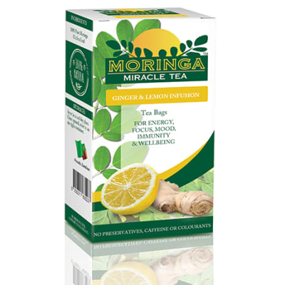 Moringa Miracle Tea - Lemon and Ginger image