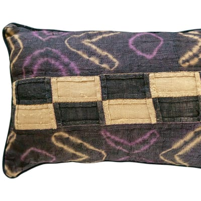 Kuba Materials  Pillow  Kuba Cushion Covers with Rectangle Patches image