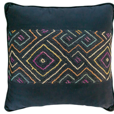 Kuba Materials  Pillow  Kuba Cushion Covers with Two Black Bands image