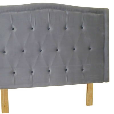 Vubwi Bed Base Headboard Grey image