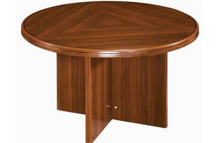 1.2 Metre Solid Wood Round Meeting Table - Mahogany