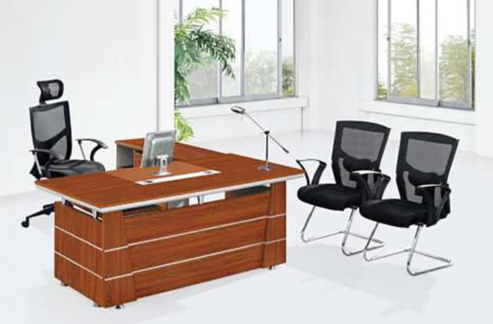 1.6 Metre Executive Desk with side unit & 3 Drawers
