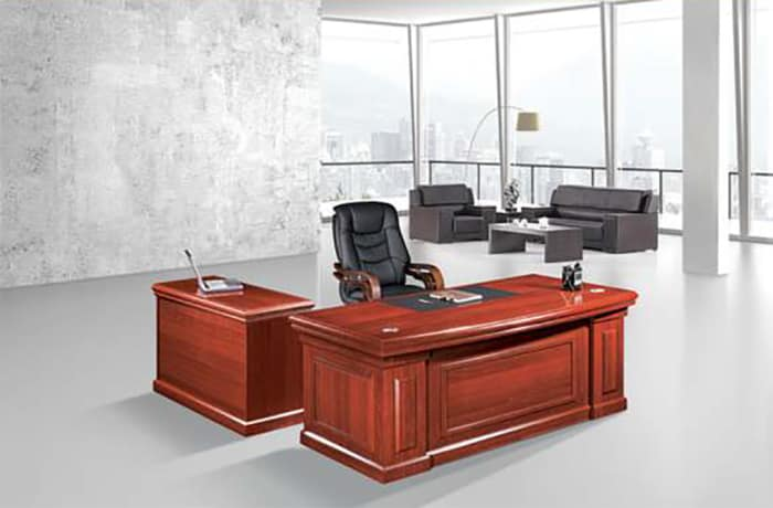 1.6 Metre Solid Wood Executive Desk - Mahogany