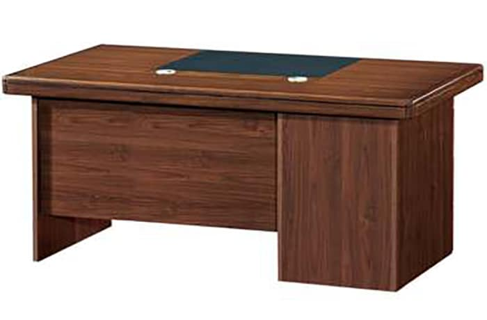 1.6 Metre Solid Wood Managerial Desk - Mahogany