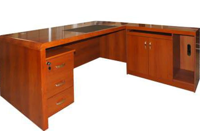 1.8 Metre Solid Wood Executive Desk - Cherry
