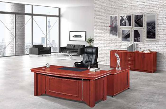 1.8 Metre Solid Wood Executive Desk - Mahogany