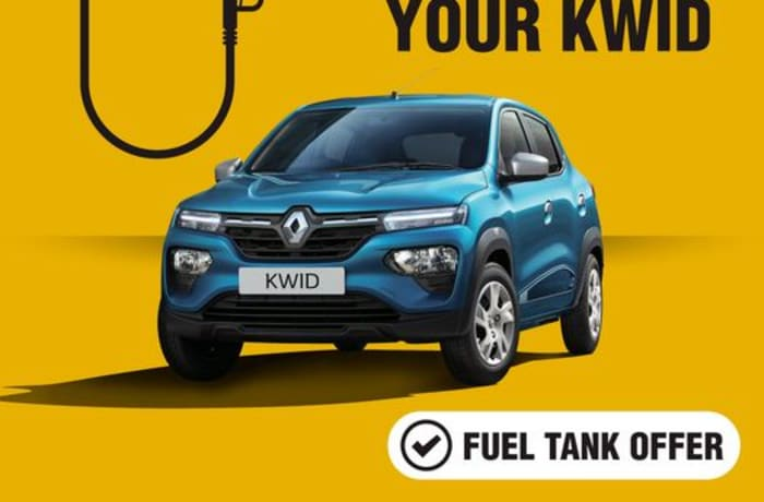 Get a free tank of fuel on every purchase made on the Renault KWID image