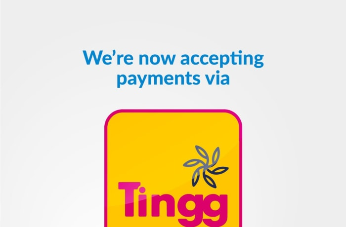 Now accepting payments via Tingg image