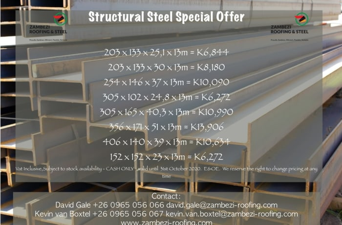Structural steel special offer image