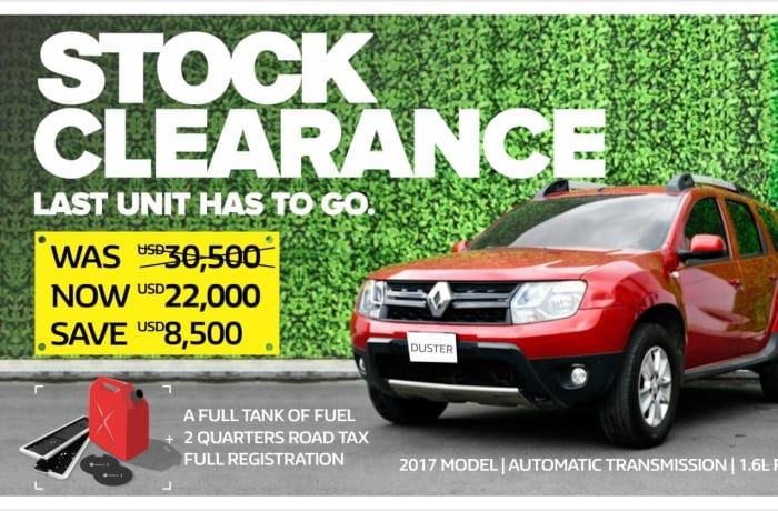 Brand new Renault Duster on clearance sale! image