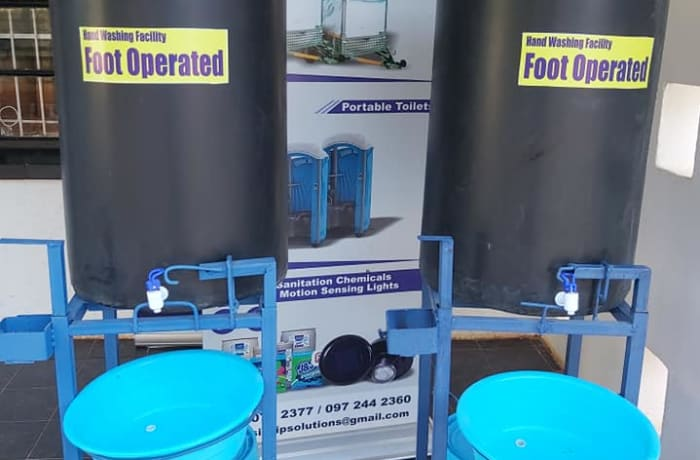Reduce the spread of Covid 19 at your events by hiring our Portable hand washing sations image