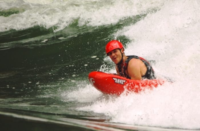 Hydrospeed Surfing