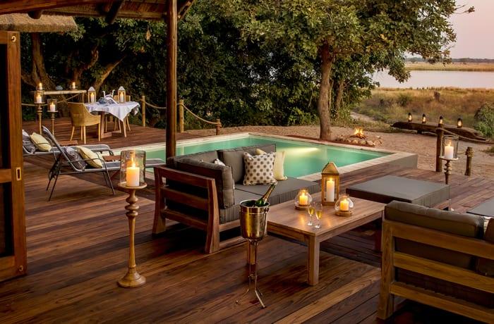 Chiawa Camp, safari suite
