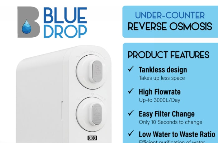 Under counter reverse osmosis filter system image