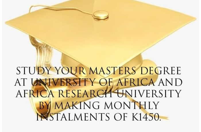 Study your masters degree at University of Africa and Research University image
