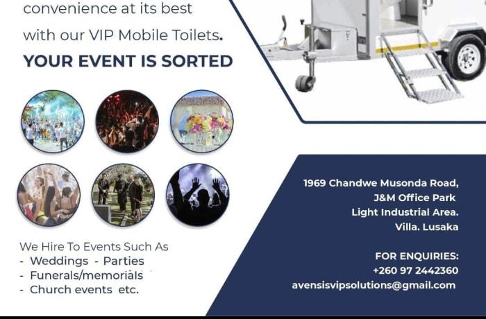 Convenient VIP mobile toilets for hire image