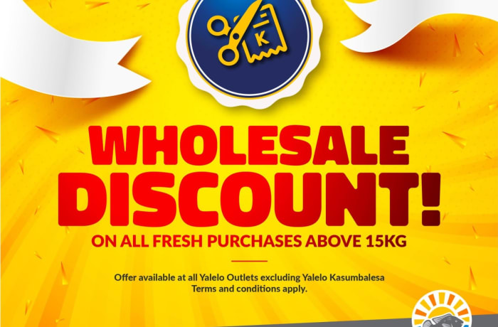 Wholesale discount on orders above 15kg image