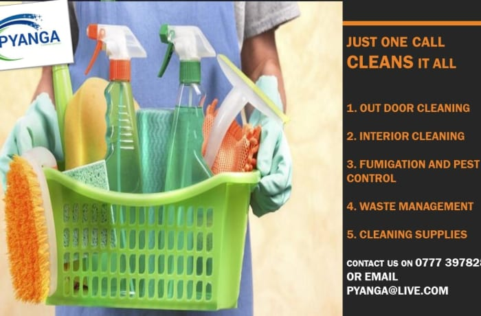 For your professional domestic and commercial cleaning call Pyanga! image