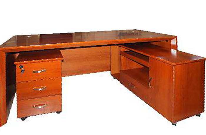 2.0 Metre Solid Wood Executive Desk - Cherry