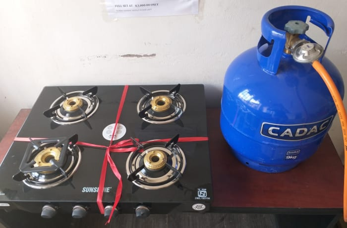 Valentines special on stove set and gas cylinder image