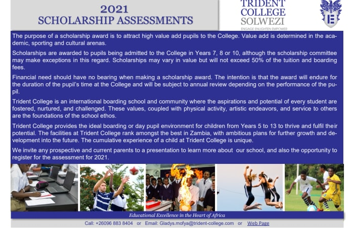 2021 Scholarship assessments image