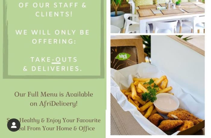 Open for take outs and deliveries! image