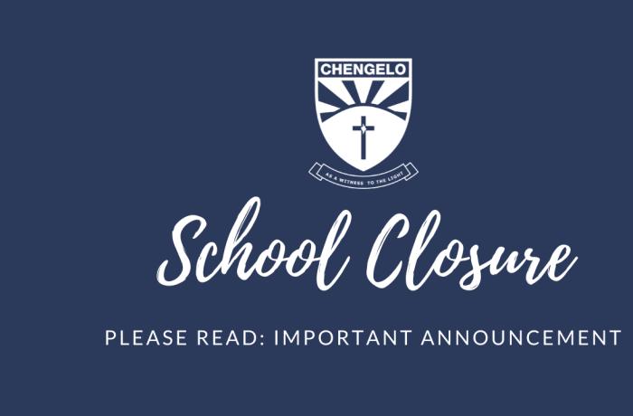 Chengelo School Closing Saturday 3rd July image