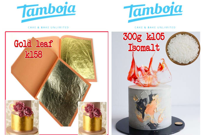 Give your cake an amazing exclusive look, with gold leaf or isomalt magic image