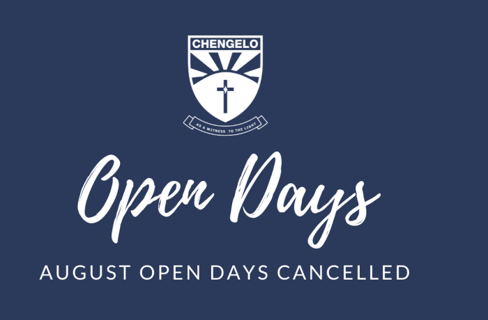 August open days cancelled image