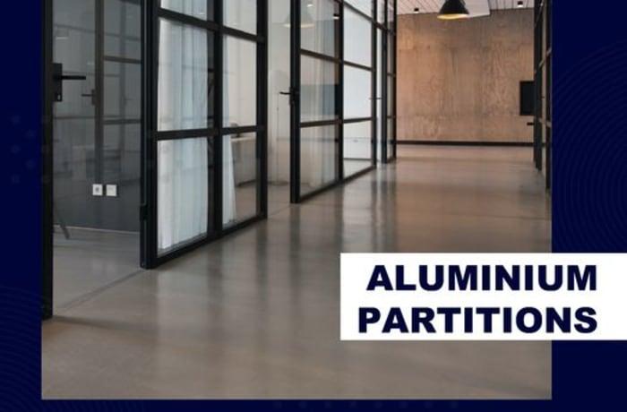 Aluminum partition for office, home, shop image