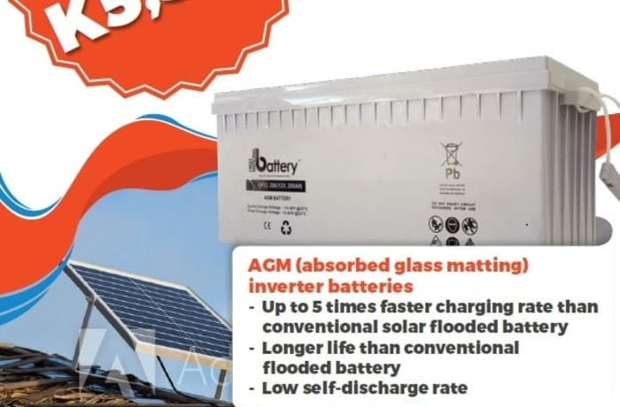FNB 200AH AGM batteries on special offer image