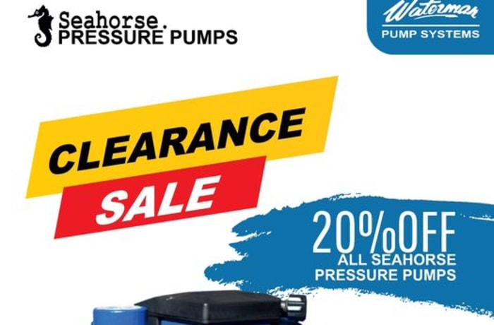20% off Sea horse pressure pumps image
