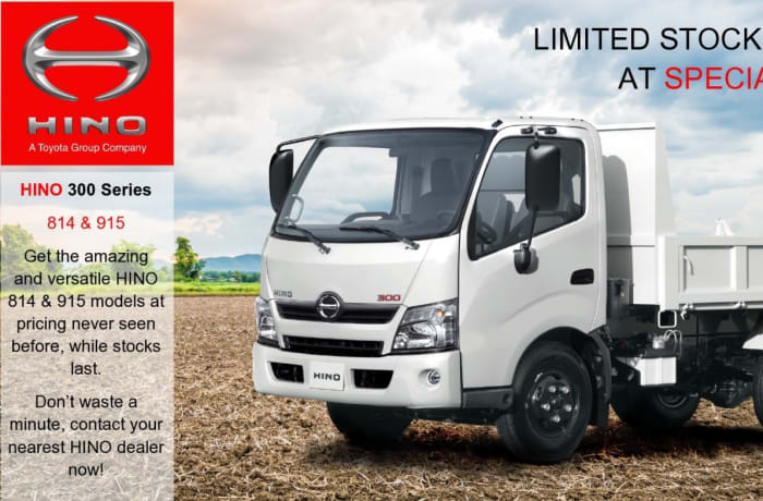 Special offer on the HINO 300 series 814 and 915 models image