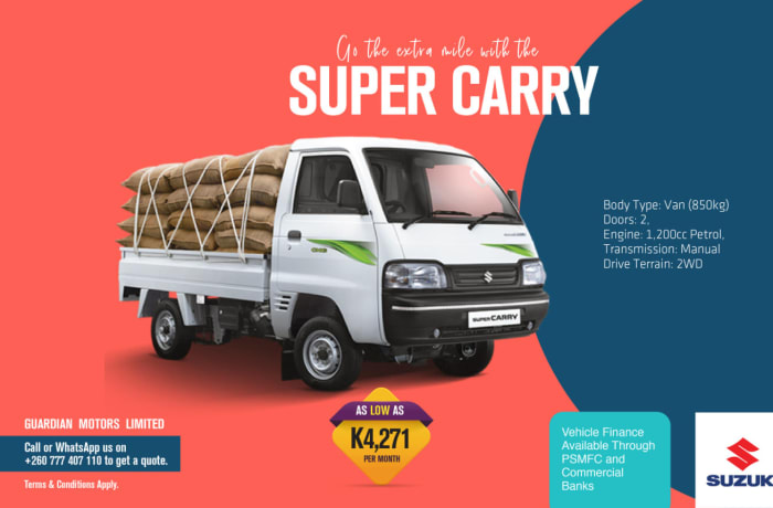 Go the extra mile with the Super Carry van image