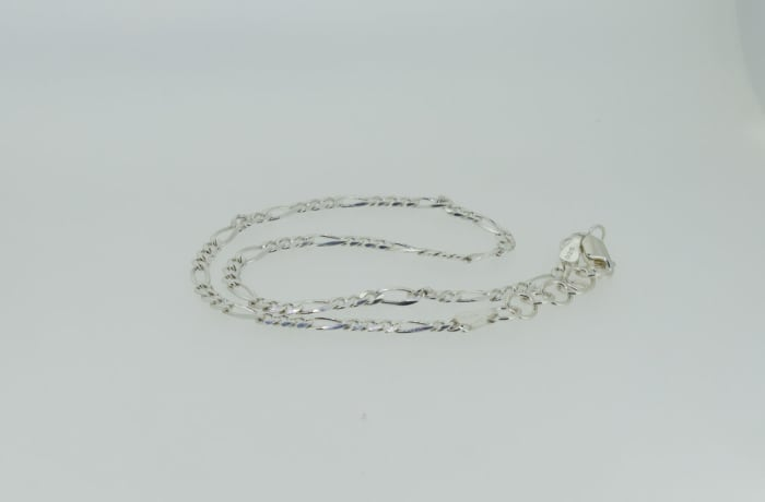 Silver linked rings necklace