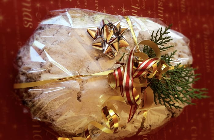 German Christmas Stollen with Marzipan