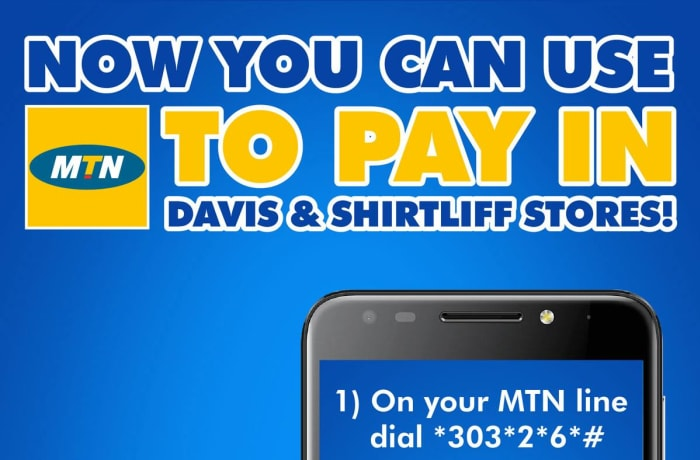You can now use MTN to pay in Davis and Shirtliff Stores! image