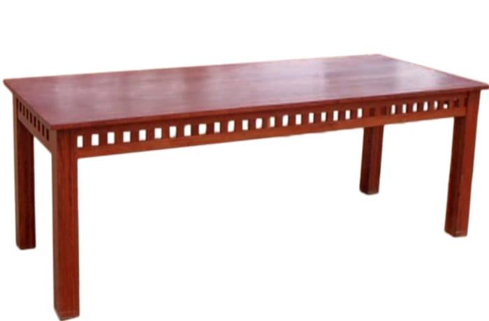 8 Seater Dining Room Table with Block Features