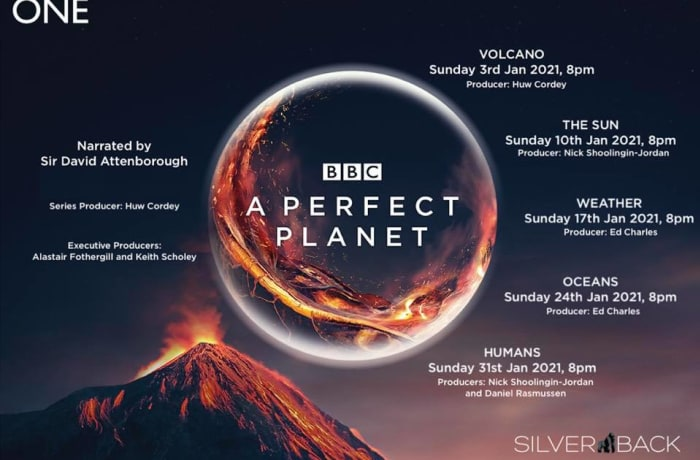 Look out for David Attenborough's perfect planet new series image