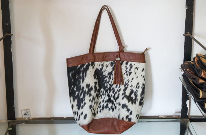 Cow Hair Leather Tote Bag