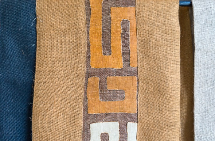 African Brown Table Linen Fabric