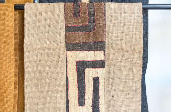 African Beige Table Linen Fabric