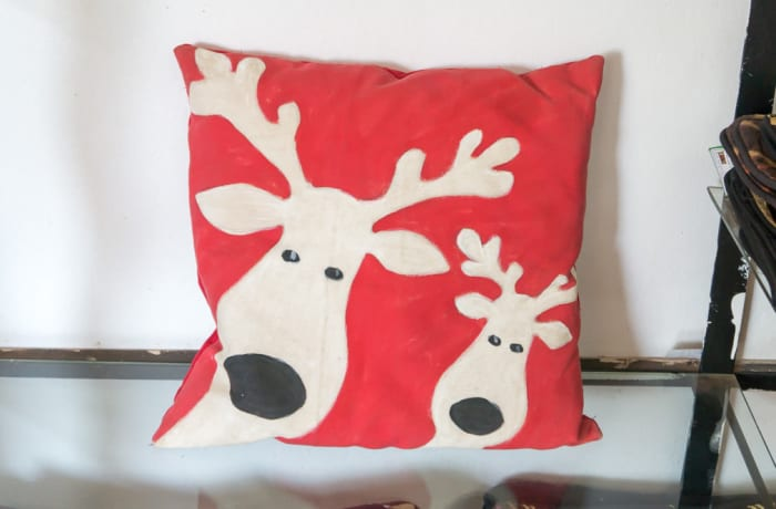 Red Deer Head Cushion