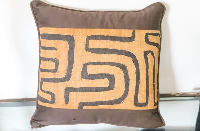 Brown and Beige Cushion