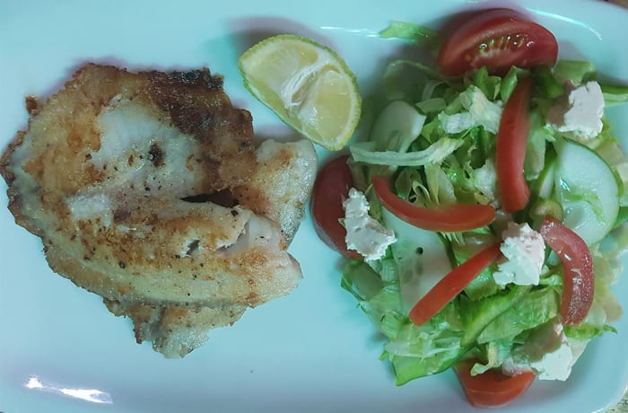 Fish and Salad