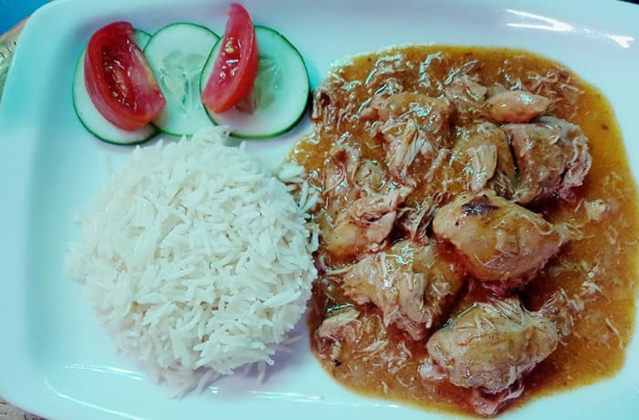 Rice with Coconut Chicken