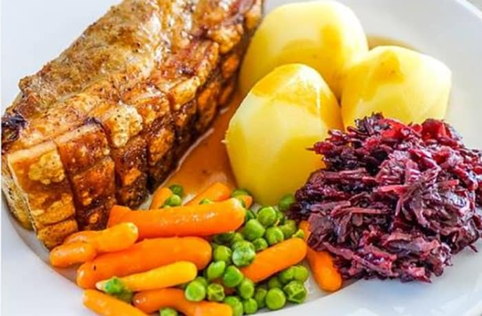Roasted Beef With Boiled Potatoes