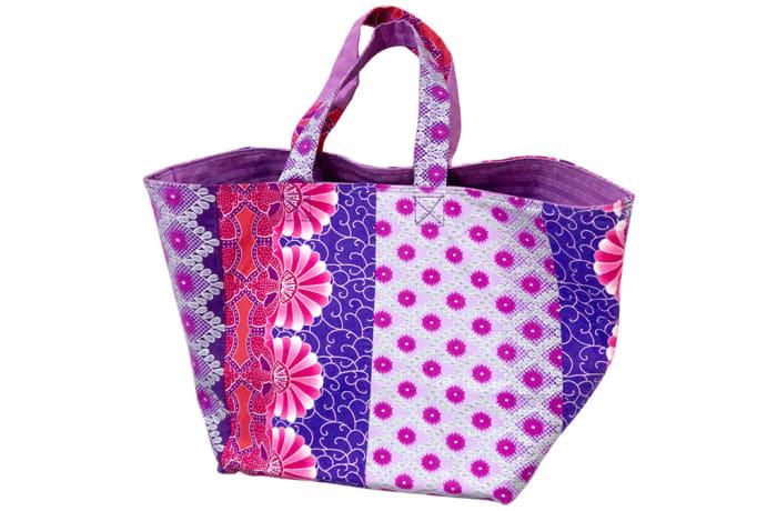 Ankara shopping bag - Pink & purple