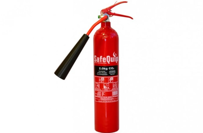 Fire Extinguishers - Aluminium Alloy 2kg CO2 Fire Extinguisher (Safequip)